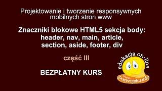 Znaczniki blokowe - budowa responsywnych i mobilnych stron internetowych