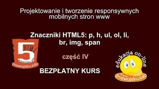 Znaczniki - budowa responsywnych i mobilnych stron internetowych