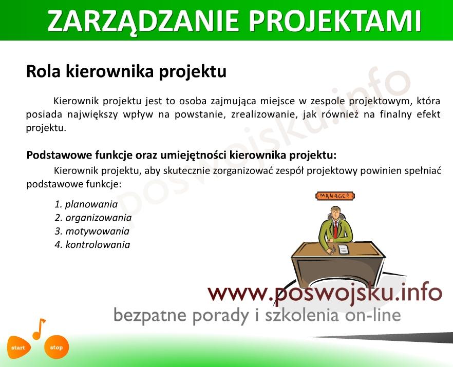 Projekt produkt zarządzanie projektami produktami kurs bezpłatny kurs on-line